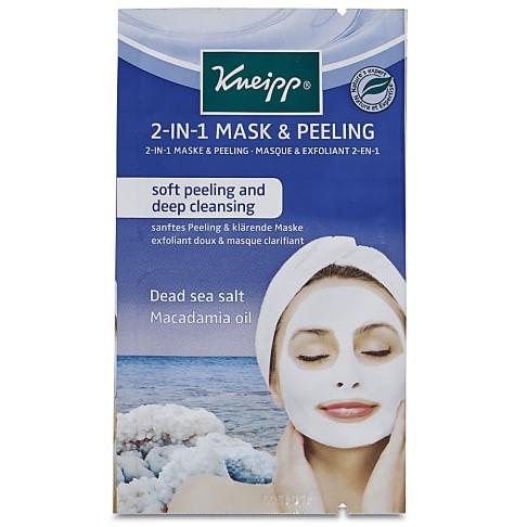 Kneipp 2 in 1 Mask and Peeling (Dead Sea Salt & Macadamia Oil) 2 x 8ml