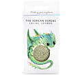 Konjac Mythical Dragon Sponge Box with Hook - Green Clay