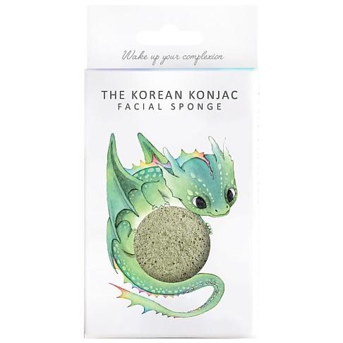 Konjac Mythical Dragon Sponge Box with Hook - Green Clay