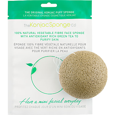 Konjac Facial Puff Sponge with Green Tea - for easily irritated, hyper-sensitive skin