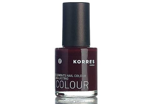 Korres Dark Red Nail Polish
