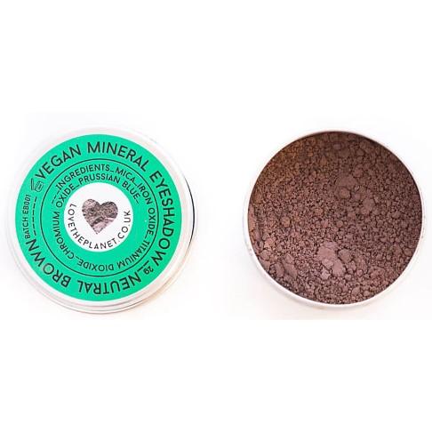 Love the Planet Vegan Mineral Eyeshadow - Neutral Brown