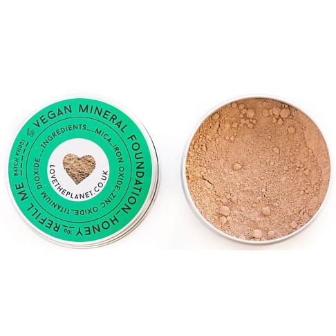 Love the Planet Vegan Mineral Foundation - Honey