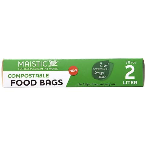 Maistic 2.Gen Compostable Food Bag 2Ltr (30)