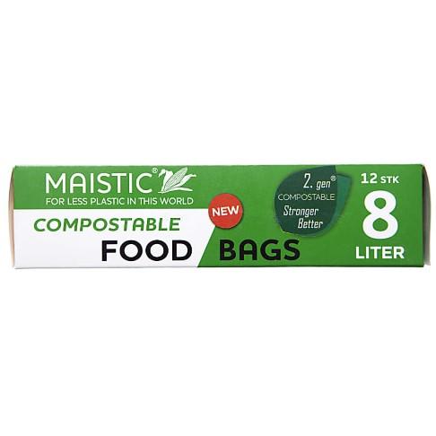 Maistic 2.Gen Compostable Food Bag 8Ltr (12)