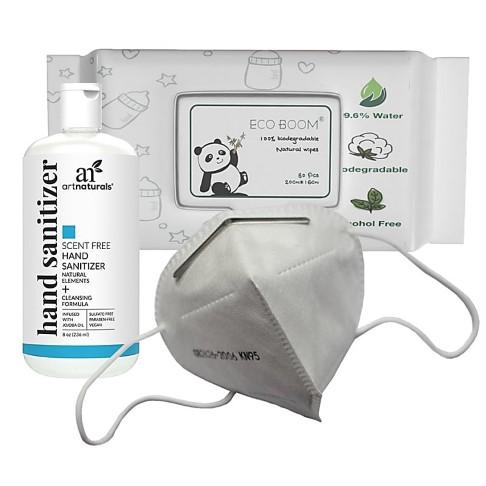 Masks, Hand Sanitiser and wipes value pack