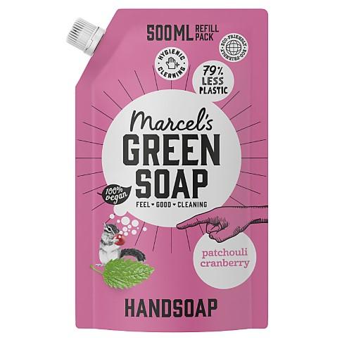 Marcel's Green Soap Hand Soap Patchouli & Cranberry 500ml Refill