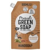 Marcel's Green Soap Hand Soap Sandalwood & Cardamom 500ml Refill