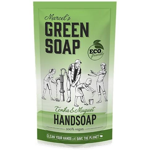 Marcel's Green Soap Handsoap Tonka & Muguet Refill Stand up Bag 500ML