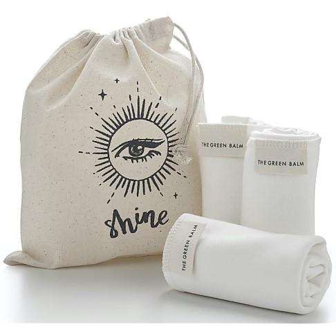 MOA - Magic Organic Apothecary Bamboo cloth TRIO (in a drawstring bag)