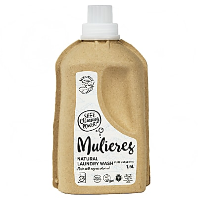 Mulieres Natural Organic Laundry Liquid - Pure Unscented 1.5L