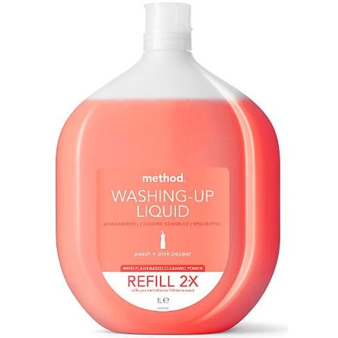 Method Washing Up Liquid Peach & Pink Pepper Refill