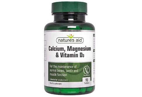 Natures Aid Calcium, Magnesium & Vitamin D3 - 90 tablets