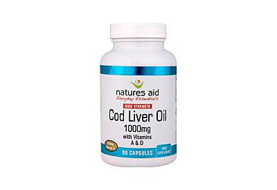 Natures Aid Cod Liver Oil (High Strength) 1000Mg - 90 capsules