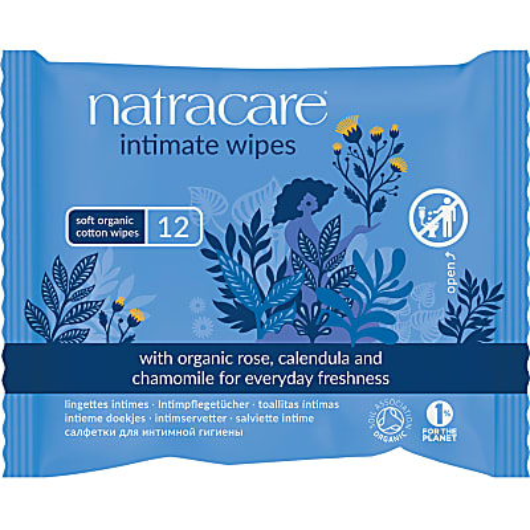 Natracare Organic Cotton Intimate Feminine Wipes