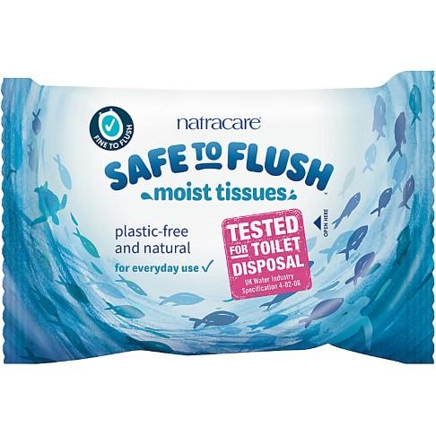 Natracare Safe to Flush Moist Tissues
