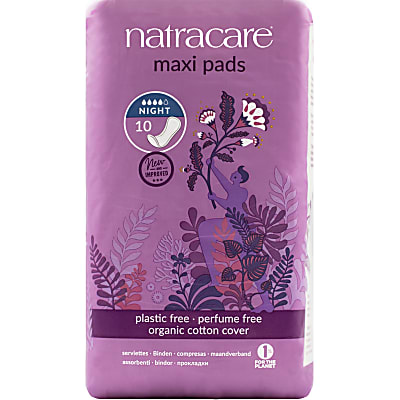 Natracare Natural Night Time Extra Long Maxi Pads