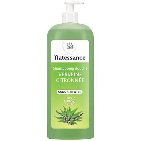 Natessance Sulflate-Free Lemon Verbena Shampoo Shower Gel - 1L