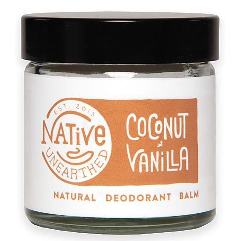 Native Unearthed Natural Deodorant Balm - Coconut & Vanilla
