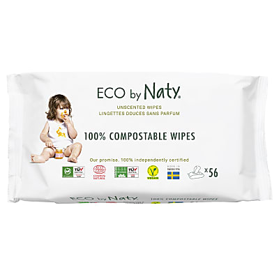 ECO by Naty Sensitive Baby Wipes - Unscented