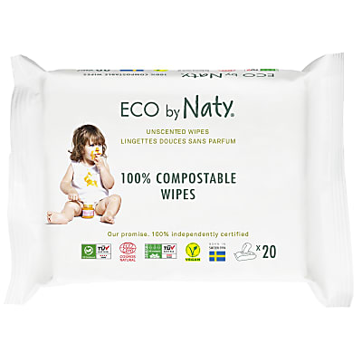 ECO by Naty - Sensitive Baby Wipes - Unscented Travel Pack