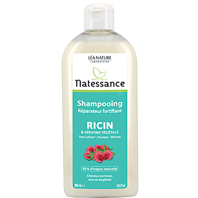 Natessance Fortifying Repairing Shampoo with Castor Oil and Keratin - 500ml