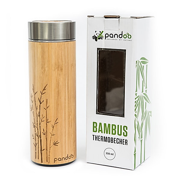 Cleaning Pandoo Bamboo Thermos Flask 360ml