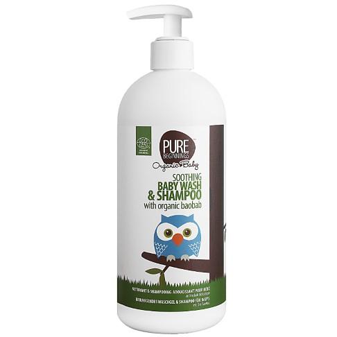 Pure Beginnings Soothing Baby Wash & Shampoo Organic Baobab (500ml)