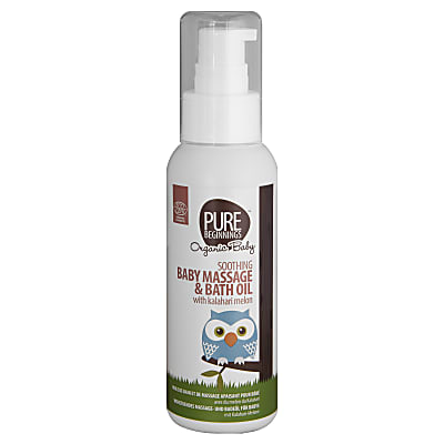 Pure Beginnings Soothing Baby Massage and Bath Oil with Kalahari Melon