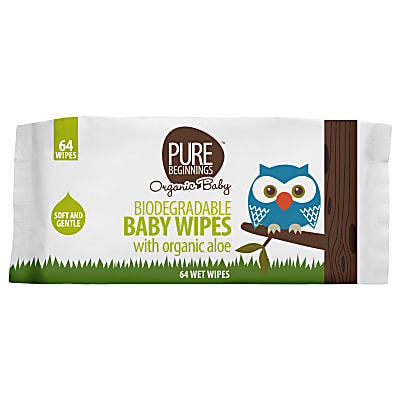 Pure Beginnings Biodegradable Baby Wipes With Organic Aloe
