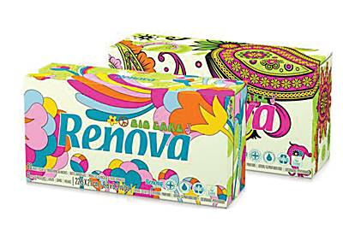 Renova Green 100% Recycled White Tissues - Box of 80