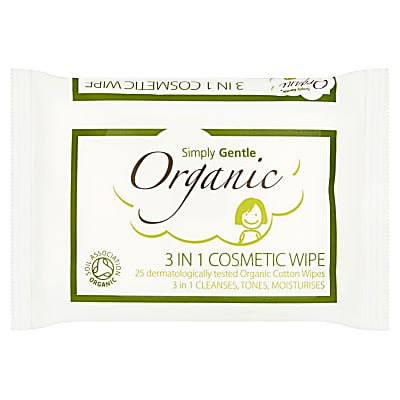 Simply Gentle Organic 3 in 1 cosmetic wipes!