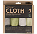 Smart Microfibre Cloths -  4 Pack (Grey-Green)