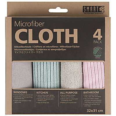 Smart Microfibre Cloths -  4 Pack (Pink-Turquoise)