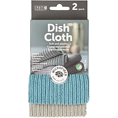 Smart Microfibre Dish Cloth - Grey/Petrol (2-pack)