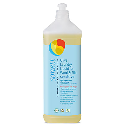 Sonett Olive Laundry Liquid for Wool & Silk - 1L (17 washes)