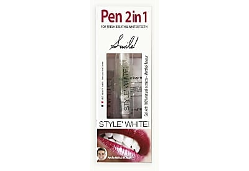 Style' White 2-in-1 Refreshing & Whitening Dental Pen