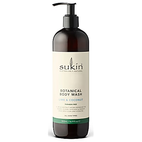 Sukin Botanical Body Wash Lime and Coconut 500ml