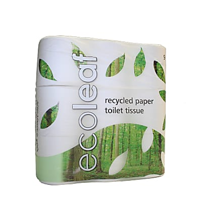 Ecoleaf Toilet Roll: 100% Recycled Toilet Paper, 9 Rolls