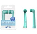 Tio 100% bio-based Oral-B Replacement Heads - Glacier & Coral