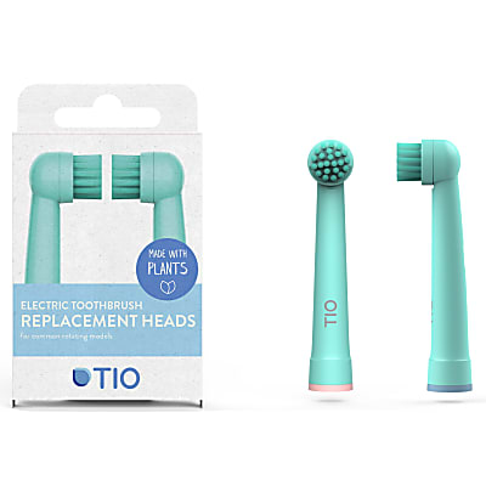 Tio 100% bio-based Oral-B Replacement Heads - Glacier & Coral