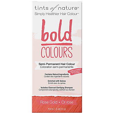 Tints of Nature, Bold Rose Gold Semi Permanent Hair Colour