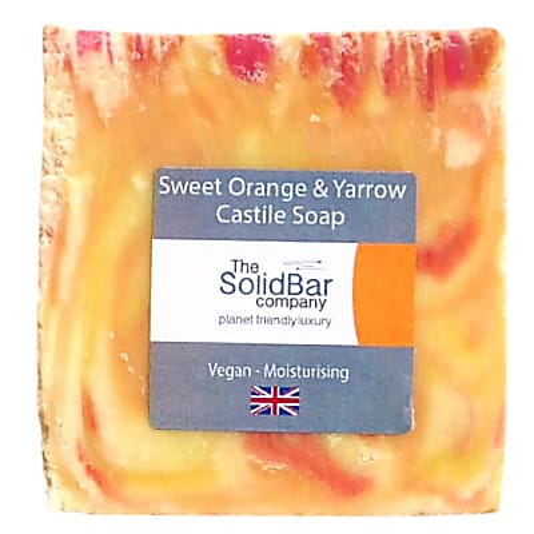 The Solid Bar Company Orange & Yarrow Castile Soap 95g