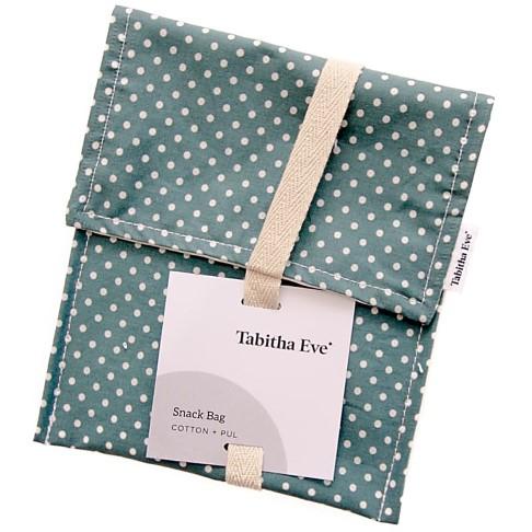 Tabitha Eve Snack Bag - Teal Dot