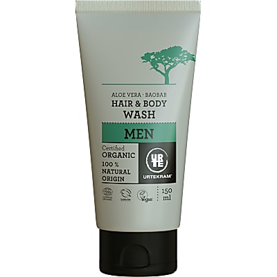 Urtekram Men Hair & Body Wash - Baobab Aloe Vera