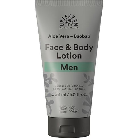 Urtekram Men Face & Body Lotion - Baobab Aloe Vera