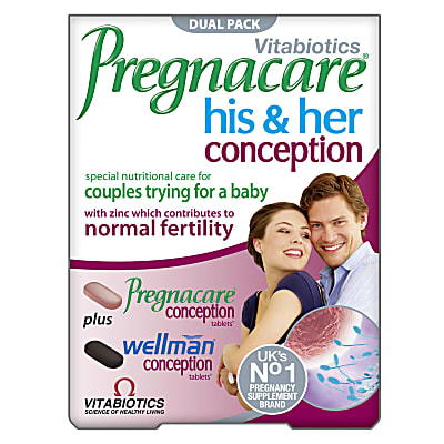 Vitabiotics Pregnacare His & Her Conception - 60 tablets