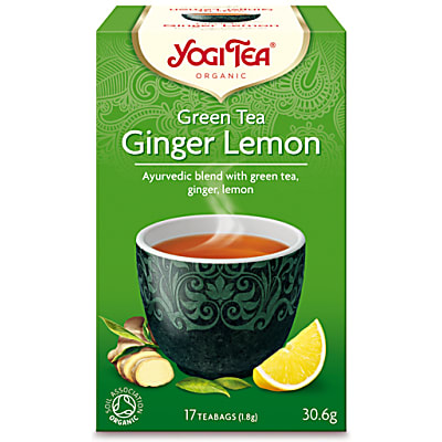 Yogi Tea Green Tea With Ginger & Lemon Tea (17 Bags)