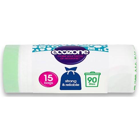 Ecozone Biodegradable Bin Liners 90L