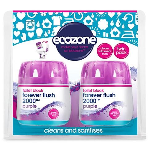 Ecozone Forever Flush Toilet Block 2000 - Indigo Twin Pack